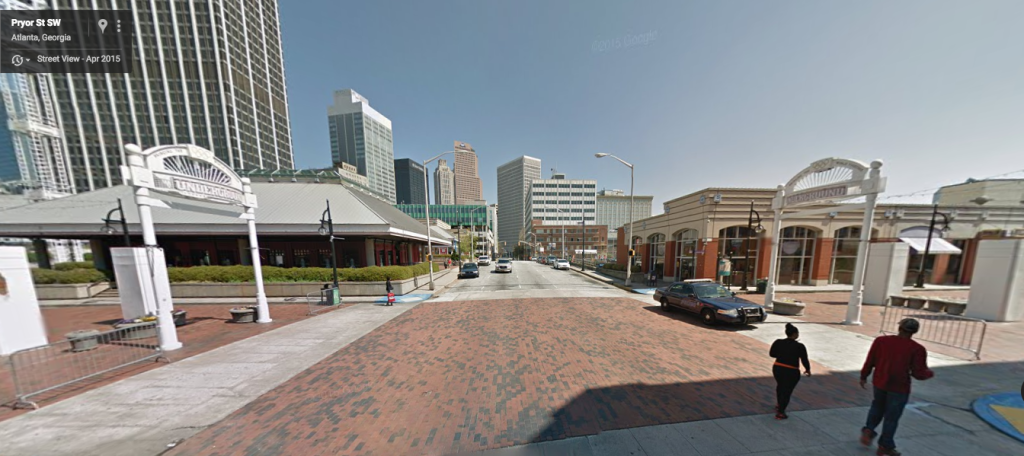 Iconic View of Underground Atlanta
