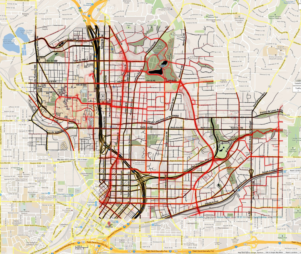 Cycle Atlanta Map Overlay